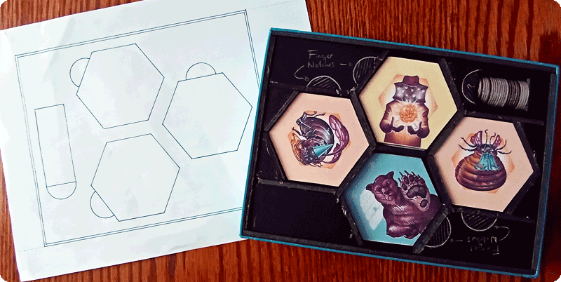 Hivernation by Ramstar Games and the evolution of the box design, optimized for shipping.
