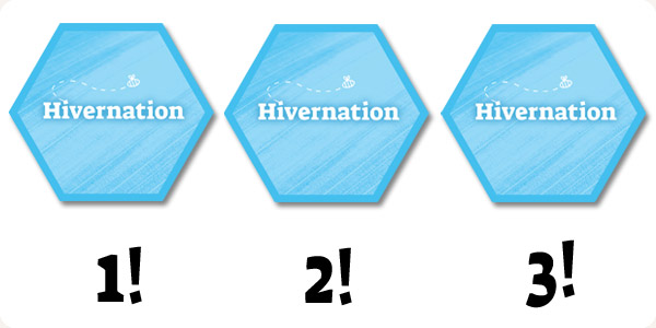 Hivernation by Ramstar Games - The back of the Hivernation specialty tiles - Choose 3!