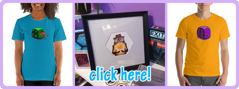 ramstar games, merchandise link, honey bomb art, tees, t-shirts, dice, monster art, bees, honey bees, bears, beekeeper